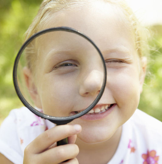Preschool science activities - magnification
