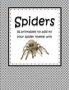 Spiders printables for preK and K. 68 pgs.